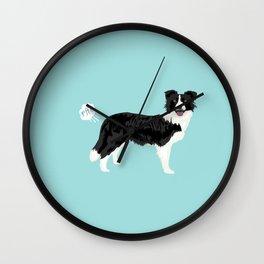 Border Collie dog breed funny dog fart Wall Clock