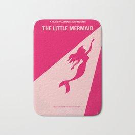 No314 My Mermaid minimal movie poster Bath Mat