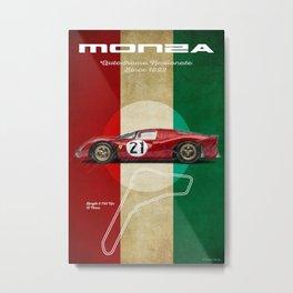 Monza Racetrack Vintage Metal Print