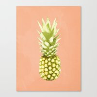 pineapple Canvas Prints featuring Pineapple by Grace