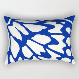 Butterfly Wings: Lapis Rectangular Pillow