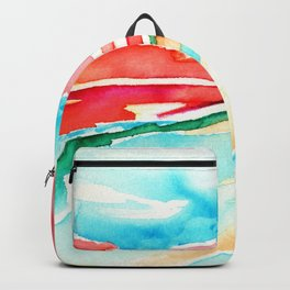 fire in the sky - beach at sunset Backpack
