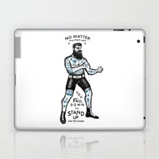 STAND UP AND TRY AGAIN (White) Laptop & iPad Skin