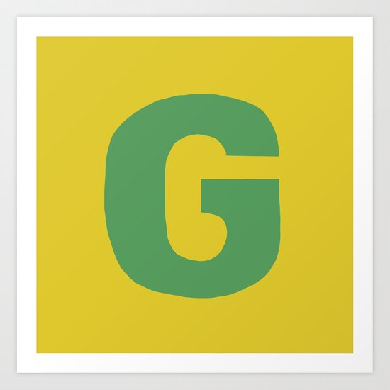G is for... Art Print