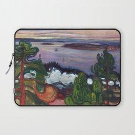 Train Smoke by Edvard Munch Laptop Sleeve