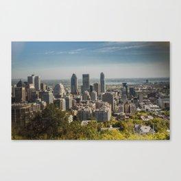 Montreal Skyline Light Canvas Print