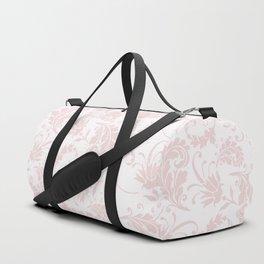 Vintage blush pink elegant floral damask Duffle Bag