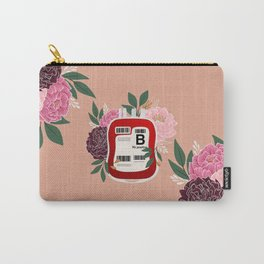 Floral B Positive Carry-All Pouch