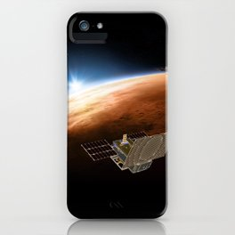 1049. MarCOs, Mars and Earth iPhone Case