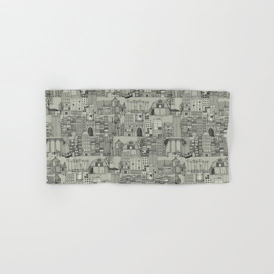 dystopian toile mono Hand & Bath Towel