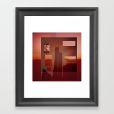 Solstice City Framed Art Print