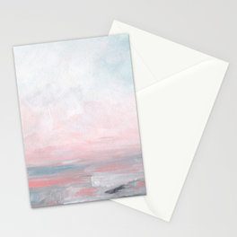 Stormy Seas - Gray & Pink Seascape Stationery Cards