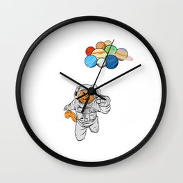 Are You A Fan Of Astronomy? An Astronaut Dreamer? Here's A Cat Antronaut T-shirt Planets Earth Pluto Wall Clock