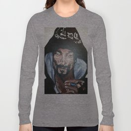 Snoop Dogg Fingerpainted Acrylic Painting Long Sleeve T-shirt