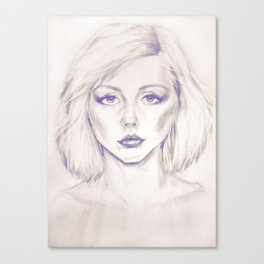 Debbie Harry from Andy Warhol famous picture Canvas Print