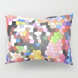 Stained Glass Window Panes Pillow Sham