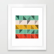 Blossom mosaic Framed Art Print