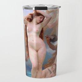 The Birth of Venus by William Adolphe Bouguereau Travel Mug