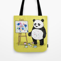 Panda Painter Tote Bag