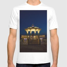 Brighton Bandstand at Night Mens Fitted Tee MEDIUM White