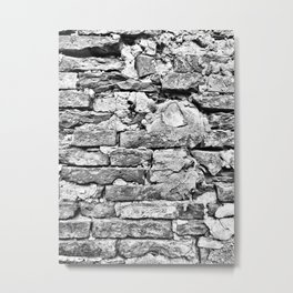 Tuscan Brick Wall Metal Print