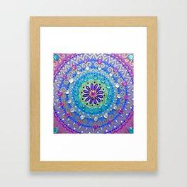 Pretty Glittery Jewelled Mandala Framed Art Print