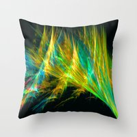 the shining Throw Pillows featuring Shining by Art-Motiva