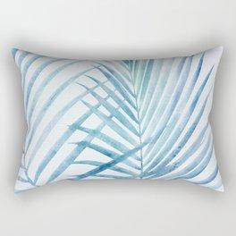 Coastal Palms Watercolor Rectangular Pillow