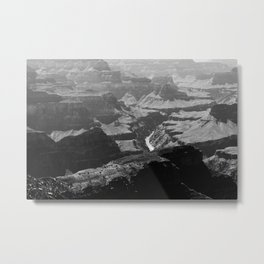 Grand Canyon Monochrome Metal Print