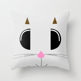 Kawaii Face Throw Pillow