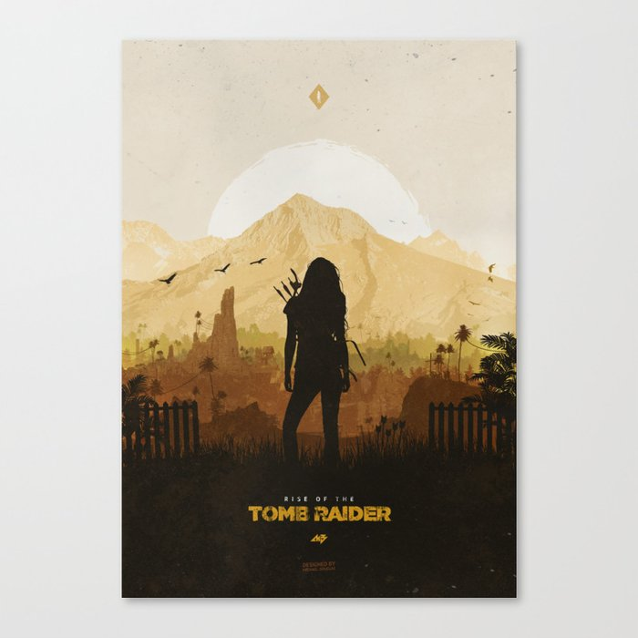 Rise of the Tomb Raider Canvas Print by mbdsgns | Society6