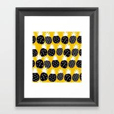 Black pineapple. Framed Art Print