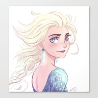 elsa Canvas Prints featuring Elsa by AndytheLemon
