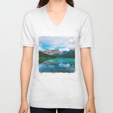 The Mountains and Blue Water Unisex V-Neck