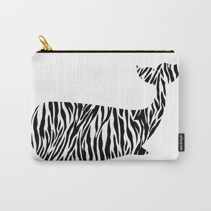 Whale with zebra print Carry-All Pouch