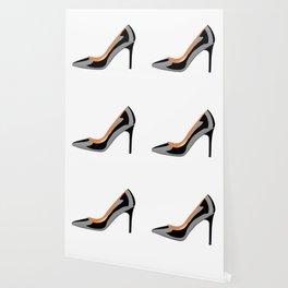 Classic High Heel Shoe in Black Wallpaper