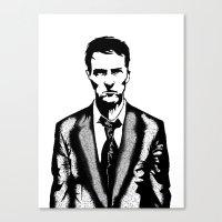 tyler durden Canvas Prints featuring Tyler Durden by Shahbab