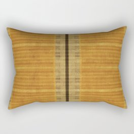 """Simple Oriental Curtains (Orange)"" Rectangular Pillow"