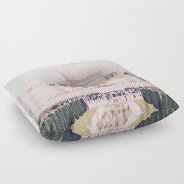 Beautiful man-made wonder Taj Mahal Floor Pillow