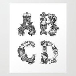 World in letters Art Print