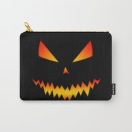 Cool scary Jack O'Lantern Halloween Carry-All Pouch