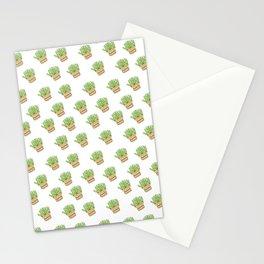 pianta grassa in vaso Stationery Cards