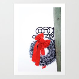 Christmas Wreath2 Art Print