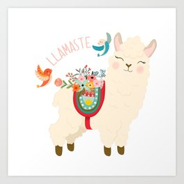 Llamaste - When A Llama Offers You A Respectful Greeting Art Print