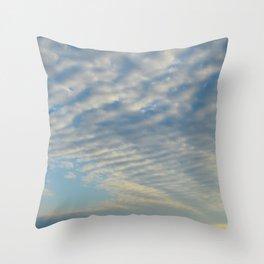 Cirrusly Stratus Waves Throw Pillow