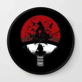 Uchiha Clan Silhouette Wall Clock