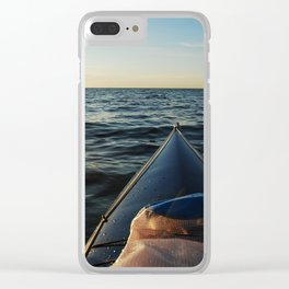 Kayaking Port Angeles Clear iPhone Case