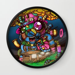 mad house Wall Clock