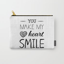 You make my heart smile Carry-All Pouch