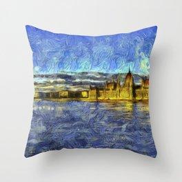 Budapest Vincent Van Gogh Throw Pillow